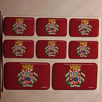 Pegatinas Cartagena España Resina, 8 x Pegatinas Relieve 3D Bandera Cartagena España Adhesivo Vinilo: Amazon.es: Coche y moto