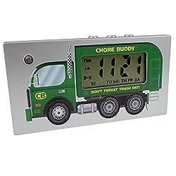 MSART Digital Travel Alarm Clock with LED Flash (Not Trumpet Alarm), 12 / 24 Hour, Magnetic or Hook