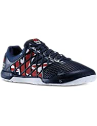 Mens Reebok Crossfit Nano 4.0 UK Flagpax Shoes Navy/Excellent Red/White/Black M48449 Size 11