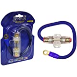 Absolute AGHPKG4BL 4 Gauge Power Cable and In-Line Fuse Kit (Blue)