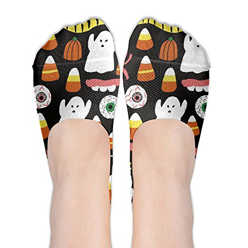 (Jadetian Halloween Candy Pumpkin Spirit Athletic Summer Stealth Ship Socks Low Cut Liner Casual)