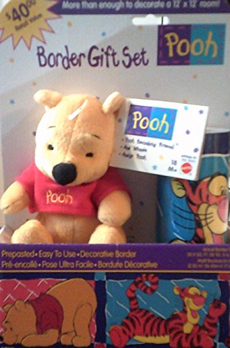 Winnie the Pooh Wallpaper Border Gift Set (Winnie Wallpaper Disney Border Pooh The)