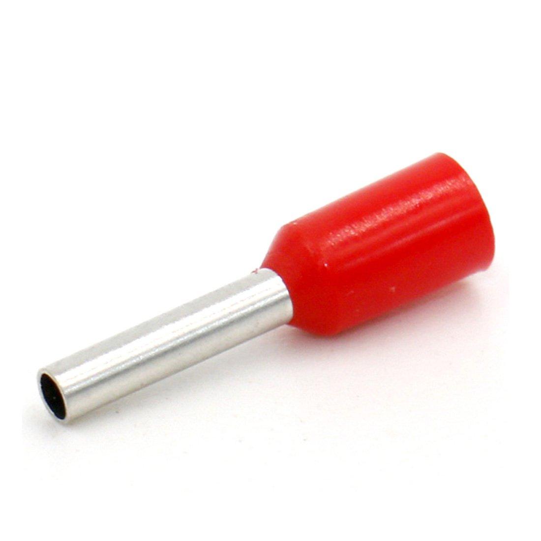 conector de alambre de cobre aislado de vinilo Heschen E1008 AWG 18//1.0 mm/² rojo 1000 unidades