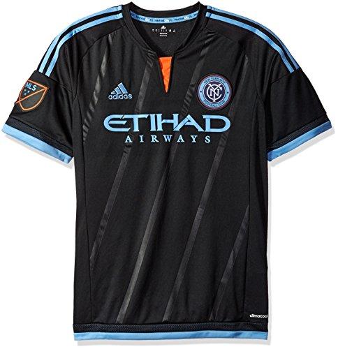 カタログアーティファクト振幅MLS New York City FCメンズレプリカ半袖ジャージー、スモール、ブラック