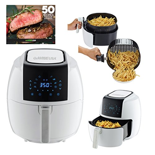 GoWISE USA GW22735 5.8-Quart 8-in-1 Air Fryer XL, Qt, White