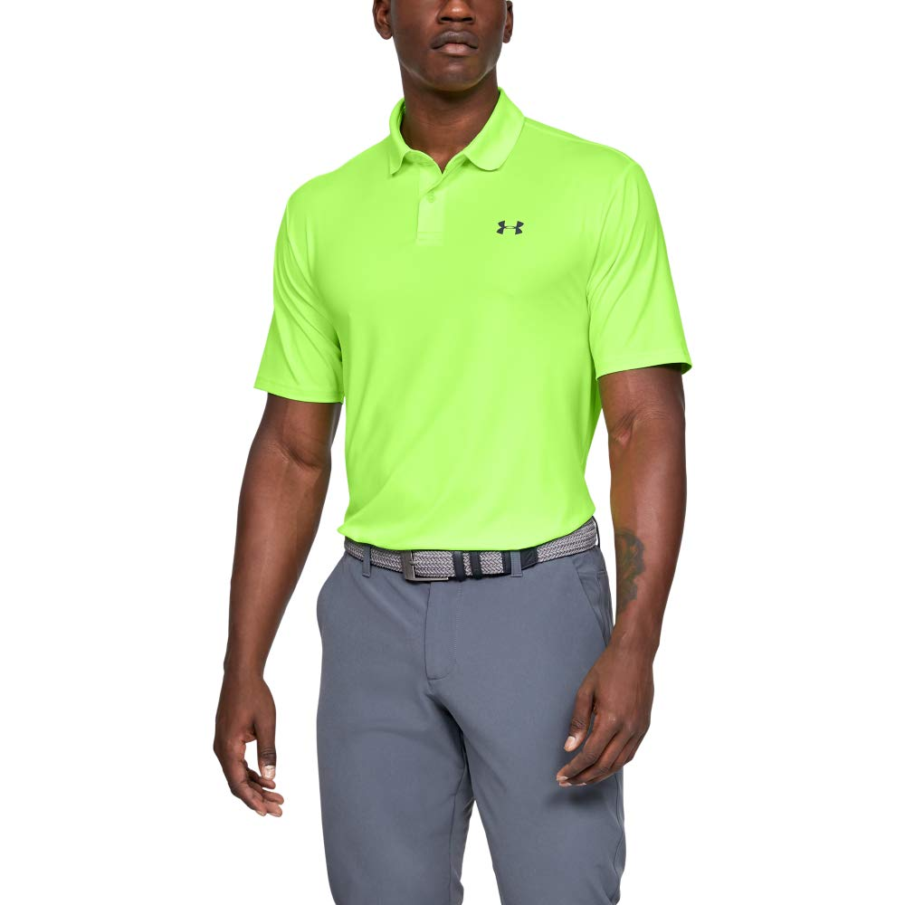 Under Armour Men's Performance Polo 2.0, Lime Light//Pitch Gray, Medium by Under Armour