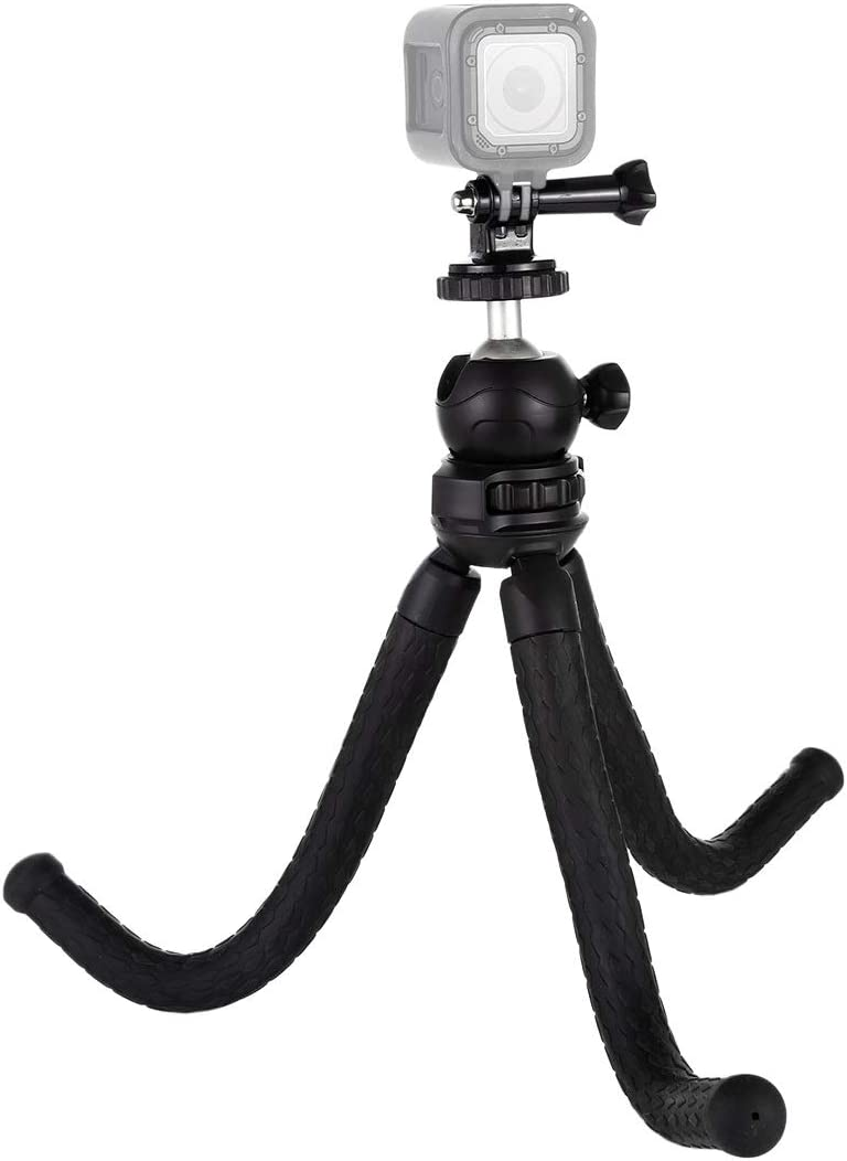 Cellphone Tripod Mount Adapter /& Long Screw for SLR Cameras GoPro Size: 30cmx5cm Hsifeng Hsifeng Mini Octopus Flexible Tripod Holder with Ball Head /& Phone Clamp