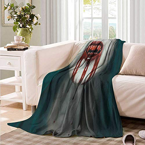 Oncegod Baby Blanket Vampire Bloody Teeth Horrifying Throw Blanket Adult Blanket 91