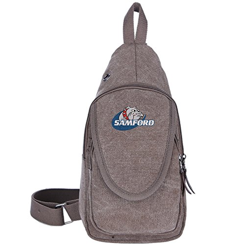 RMayyaN Samford University Bulldogs Unisex Canvas Messenger Backpack Brown One Size - Toothless Costume Videos