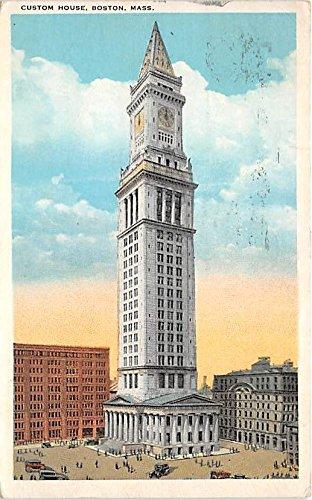 Bostons Custom House - Custom House Boston Massachusetts Postcard