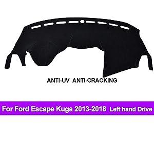 Oneuda Flannel Dashmat Dashboard Cover Dash Pad Car Mat Carpet Sun Shade forFord Escape Kuga 2013 2014 2015 2016 2017 2018 Anti-Slip Dash Board Cover Auto Accessories
