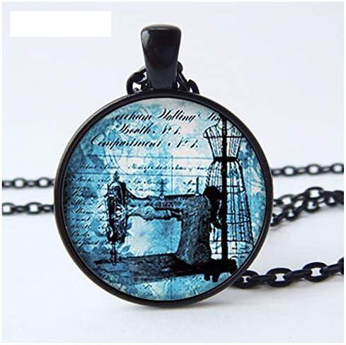 GUHUA Colgante Antiguo De La Máquina De Coser, Collar De La Costurera, Amuleto De Costura, Joyería De La Modista: Amazon.es: Joyería