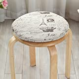 LJ&XJ Children Seat Cushion, Round Sponge Dining Chairs Pads, Non-Slip Soft Breathable, Student Stool Bar stools Indoor Outdoor-H diameter34cm(13inch)