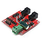 DC Motor Driver, DROK L298 Dual H Bridge Motor Speed Controller DC 6.5V-27V 7A PWM Motor Regulator Board 12V 24V Electric Motor Control Module Industrial 160W with Optocoupler Isolation