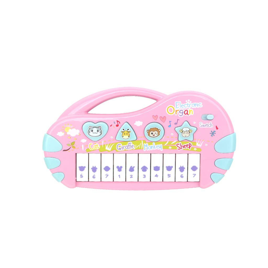 LIUFS-Piano Toy Music Piano Puzzle Children's Keyboard Rechargeable Battery (Color : Pink)