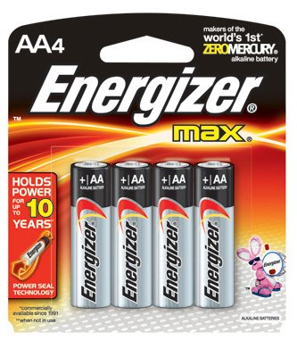 Eveready Battery E91BP-4 4-Pk.AA Alkaline Batteries - Quantity 12 by Eveready