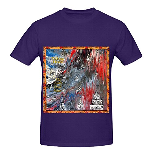 Price comparison product image Talking Heads The Lady Dont Mind Hits Men Round Neck Diy Tee Shirts Purple