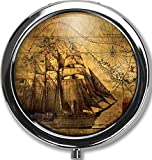 Best Silver Pills - Ancient Sailing Ship Custom Round Silver Pill Box Review