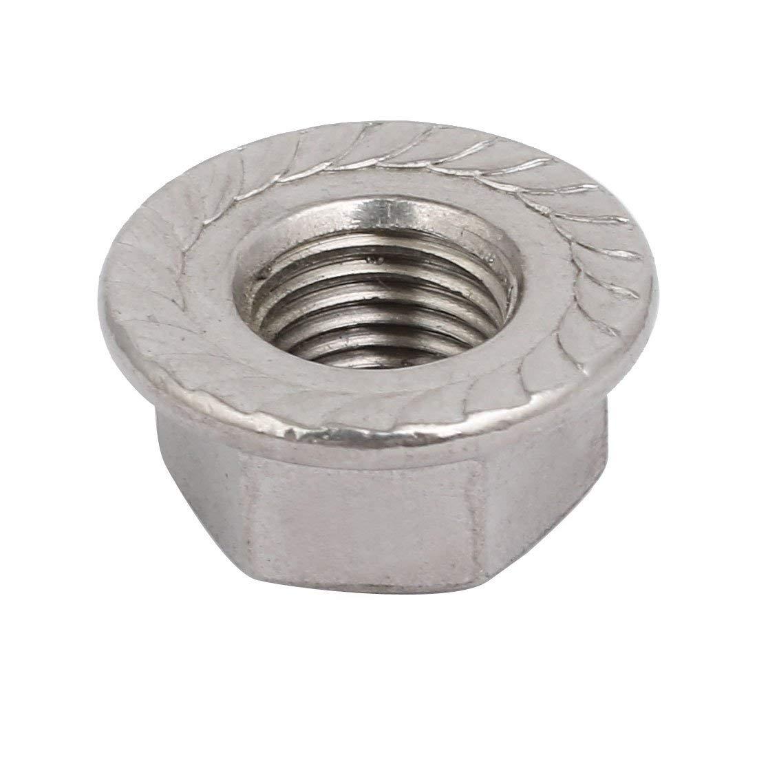 8pcs Tuerca de brida hexagonal de acero inoxidable M12 x 1,25 mm rosca m/étrica fina 304