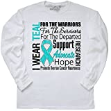 inktastic - Ovarian Cancer I Long Sleeve T-Shirt XXX-Large White - HDD 1ce2f