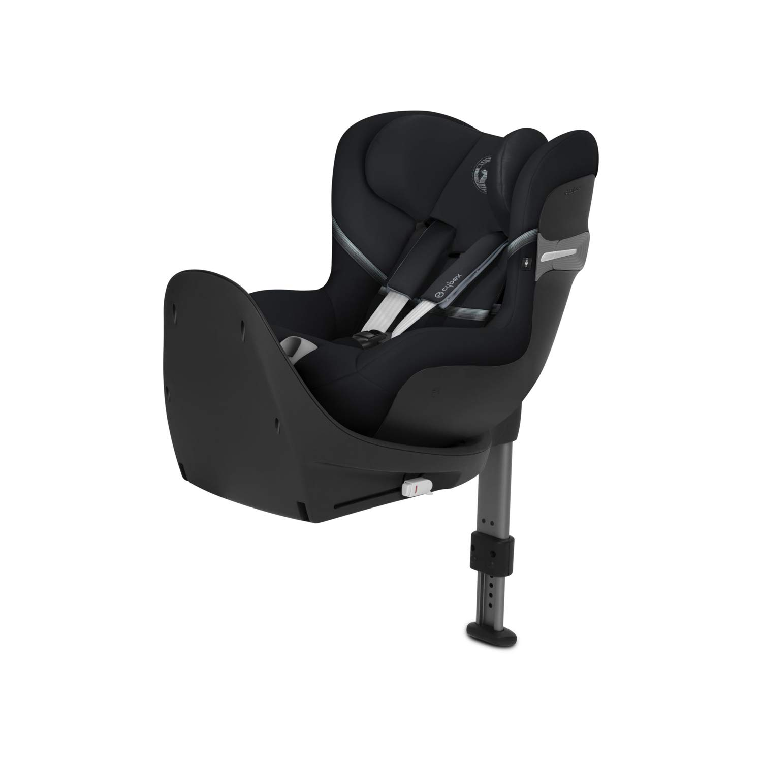 CYBEX Gold Sirona S i-Size Child´s Car Seat, 360° Rotation for easy entry and exit position, Group 0+/1 (max 18kg) From birth up to approx. 4 years (45 cm to 105 cm), Deep Black