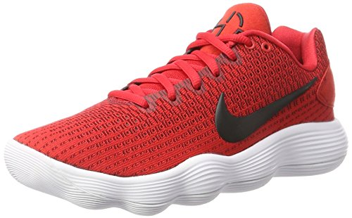 Nike Mens React Hyperdunk 2017 Low University Red/Black/White/Team Red Synthetic Basketball Shoes 10.5 D US