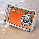 "BanffCliff 21MP 1080P HD Waterproof Digital Camera, Anti-Shock 3 Meter Underwater Action Cam, 2.4"" LCD Screen Flash Mic IP68 Camcorder 8X Digital Zoom Water Sports Video Recorder"