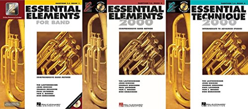 Essential Elements for Band - Baritone T.C., Books 1-3, 3 Book Set