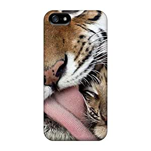 Perfect Tiger And Baby Case Cover Skin For Iphone 5/5s Phone Case