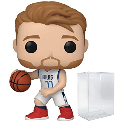 POP! Sports NBA Luka Doncic Dallas Mavericks Action Figure (Bundled with Pop Protector to Protect Display Box): Toys & Games