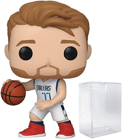 POP! Sports NBA Luka Doncic Dallas Mavericks Action Figure (Bundled with Pop Protector to Protect Display Box)