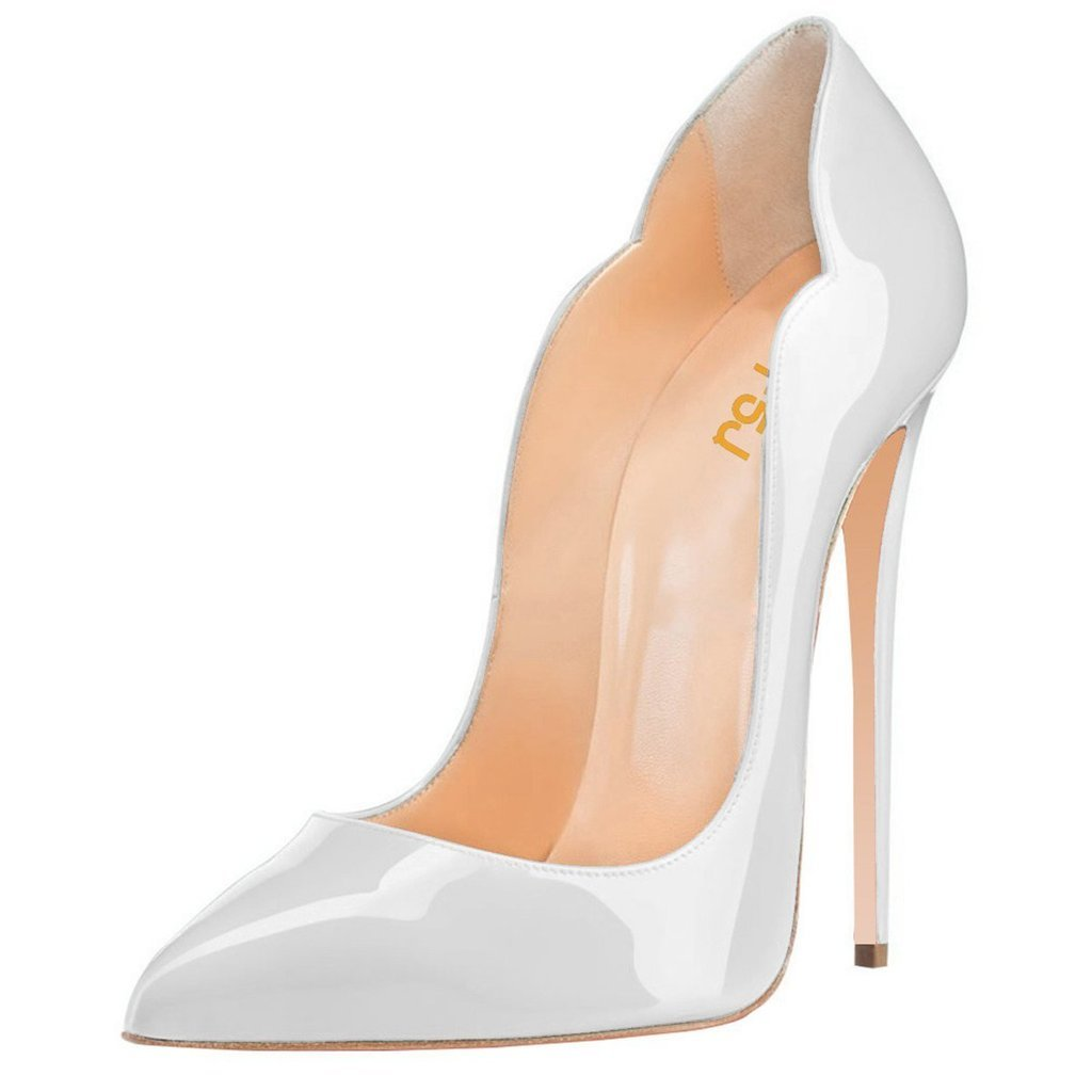 FSJ Women Classic Pointed Toe High Heels Sexy Stiletto Pumps Office Lady Dress Shoes Size 4-15 US B01F3QG4MS 7 B(M) US|Light Grey