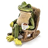 Miniature Frog Garden Statue - 2'' Tall - Mini Outdoor Accessory Figurine for Fairy Garden