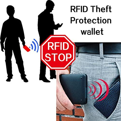 DRF Billetera Larga para Hombres RFID Bloqueo Trajetero Bifold de Cuero Vacuno BG223