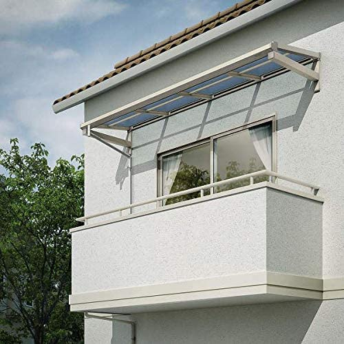 YKKAP 持ち出し屋根 ソラリア 1間×3尺 フラット型 熱線遮断ポリカ屋根 関東間 600N/m2 上から施工 ホワイト
