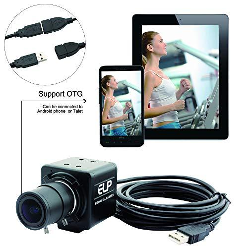 Camera USB 2.8-12mm Varifocal Lens Webcamera VGA 100fps USB with Camera for Industrial High Speed 1080P USB Camera 0.01Lux Low Illumination, 2MP HD Web Camera with CMOS OV2710 Sensor Web -