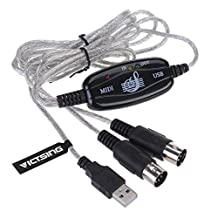 VicTsing USB IN-OUT MIDI Cable Converter PC to Music Keyboard Adapter Cord