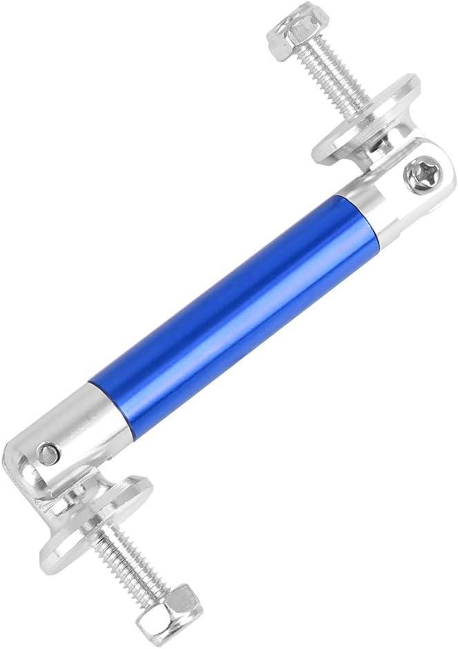 X AUTOHAUX 2Pcs Car 50mm Universal Adjustable Front Bumper Lip Lever Support Rod Blue