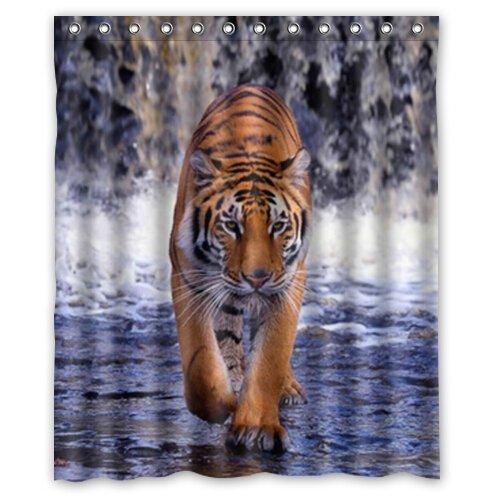 """Custom It walking tiger Shower Curtain 60"""" x 72"""""""