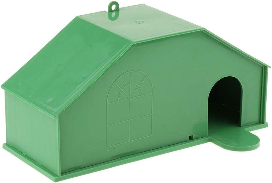 Fenteer Casa De Pájaros Al Aire Libre De Plástico, Caja De Cría De Loros De Loros De Jaula De Pájaros, Casa De Pájaros De Madera Artesanal