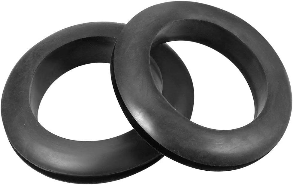 Wire Protector Oil Resistant Armature Grommet Rubber 35mm Internal Dia 10Pcs Black