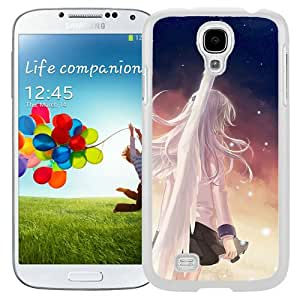 Beautiful And Unique Designed Case For Samsung Galaxy S4 I9500 i337 M919 i545 r970 l720 With Angel Beats Girl Wings Angel City (2) Phone Case