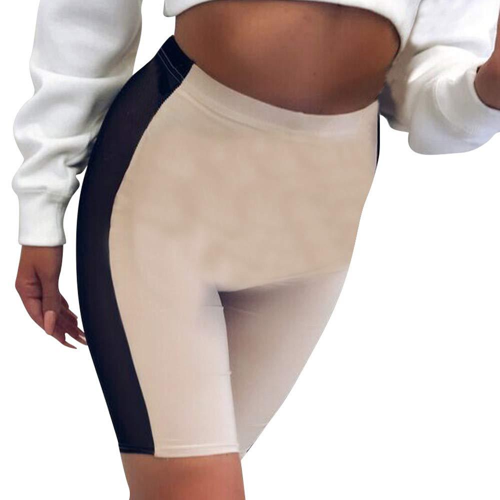 LisYOU Women Leggings Printed Power Flex Yoga Pants Workout Running Leggings(M,Beige)
