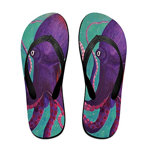 FPDragon Purple Octopus Unisex Soft Flip-flops Beach Sandals Slippers Classical Thong Sandals servpccV