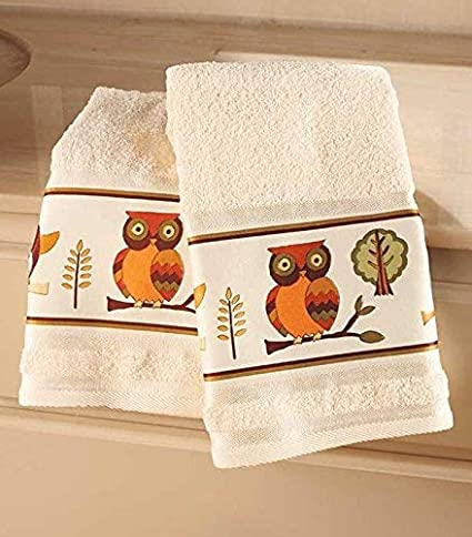 set of 2 owl bathroom hand towels by getset2save - Bathroom Hand Towels