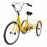 Best Adult Tricycles - Popsport 24 Inch Adult Tricycle Series 6/7 Speed Review