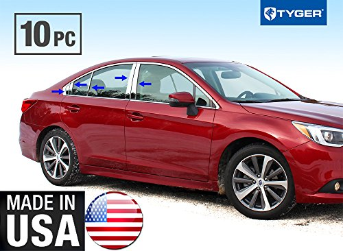 - Tyger Auto Made in USA! Works with 2015-2018 Subaru Legacy Stainless Steel Chrome Pillar Post Trim 10PC