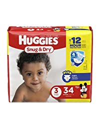 HUGGIES Snug & Dry Diapers, Size 3, 34 Count (Packaging May Vary) BOBEBE Online Baby Store From New York to Miami and Los Angeles