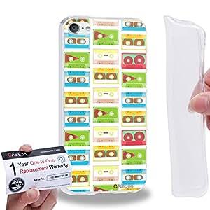 Case88 [Apple iPod Touch 6] Gel TPU Carcasa/Funda & Tarjeta de garantía - Art Fashion Compact Cassette Compact Cassette A