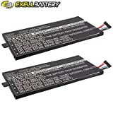 2x Exell Li-Polymer 3.7V Battery Fits TOSHIBA Regza AT1S0, Thrive 7 Tablets Replaces PA3978U-1BRS, PABAS255